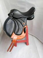 English black leather all purpose close contact saddle Full Padded In All Size