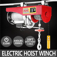 200 KG Electric Hoist Support Arm Winch Lifting Sling Scaffold crane block