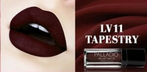 Palladio Velvet Matte Lip Color Tapestry Deep Blood Ultra Pigment Hydration