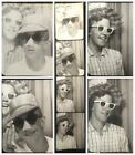 Vintage+1957+B%26W+Photo+Booth+Goofy+Clown+Face+Guy+%26+Girl+With+Sunglasses+Photos