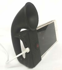 BLACK Portable Silicone Horn Amplifier Loud Speaker Desk Stand Apple iPhone 5 5S