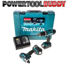 Makita DLX2020SA Combi/Impact 18 Volt Li-Ion Kit TWIN * consegna il giorno successivo ** PTB **