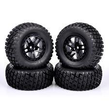 Rubber Short Course Tire Wheel Rims 4Pcs For TRAXXAS SLASH HPI HSP RC 1:10 Truck