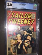SAILOR SWEENEY #13 (1956,Atlas) CGC 3.0 RARE GGA John Severin Navy cover