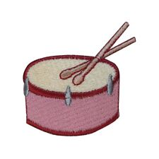 ID 3163 Snare Side Drum Patch Percussion Instrument Embroidered Iron On Applique