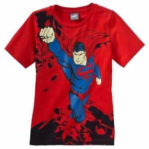 Puma Fun Superman T-Shirt  Toddler Boys  Top Casual  Crew Neck  - Red