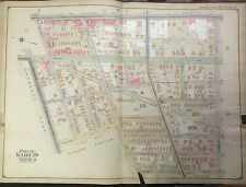 ORIG 1906 BROOKLYN NY FLATBUSH CATON PARK PARADE GROUNDS PROSPECT PARK MAP ATLAS