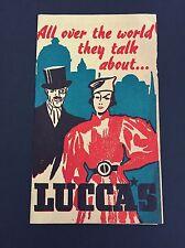 1943 Vintage Menu Postcard Lucca Restaurant Los Angeles Ca. Lucca's