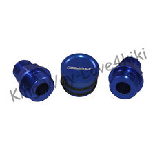 BLUE Block Plug & Catch Can Breather Fittings FOR B16 B18C CATCH CAN M28 TO 10AN
