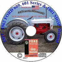 FORD 600,601- 701 1801 TRACTOR SERVICE REPAIR SHOP MANUAL v1.1  GAS & Diesel CD