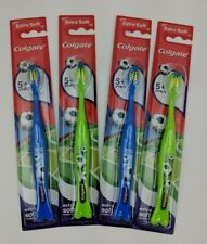 Colgate Sports Soccer Toothbrush Extra Soft 5+ years 4 pack ~ Free Shipping!!