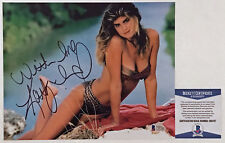 BEAUTIFU!!! Kathy Ireland SPORTS ILLUSTRATED Signed 8x10 Photo #1 Beckett BAS