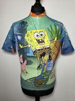 Descente Nickelodeon Spongebob Squarepants Unicycle Cycling Jersey Shirt M VGC