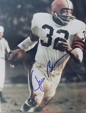 JIM BROWN SIGNED AUTOGRAPHED BROWNS 8X10 PHOTO W/ COA!!!