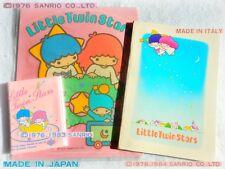 🌟Sanrio Vintage LITTLE TWIN STARS Kiki Lala 1976-80 Quaderno Adesivo Portacarte