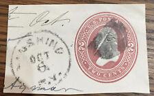 US STAMP ENVELOPE 2 CENT.  1884 SCOTT U278  CANCEL FLUSHING (NY)  POSTMARK