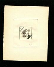 Monaco 1959 Flora Scott 438 Princess Caroline Carnation Sunken Die Artist Proof