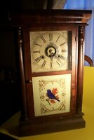 ANTIQUE C1865 SETH THOMAS OGEE COLUMN CLOCK SOLD FOR RESTORATION, L-E170