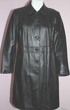 NWOT Womens VENEZIA Black Leather Coat Plus Size 14/16
