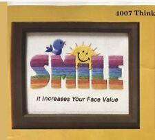 Vintage 70s Embroidery Set 4 Kit Groovy Rainbow Smile Bunny Cat Frog Needle Kit