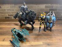 Legends of Batman Action Figure Dark Rider 1994 3 Batman Figures And Horse