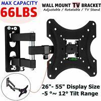 Full Motion TV Wall Mount Swivel Bracket 32 40 42 50 55 Inch LED LCD Flat Screen