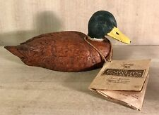 Vintage•1990•The Carver's Collection•Wood•Hand Carved•Duck Decoy