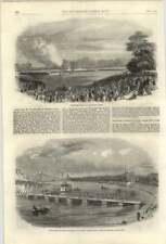 1861 Volunteer Engineers Glasgow Pontoon Bridge On The Clyde