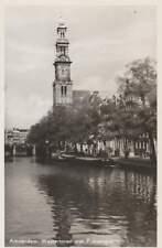 Ansichtkaart Nederland : Amsterdam - Westertoren met Prinsengracht (bc231)