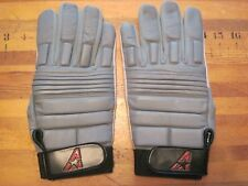 ALL-STAR FOOTBALL GLOVES,GRAY with TAN PALMS,SZ MENS XL,NEW,TACKIFIED,PADDED BCK
