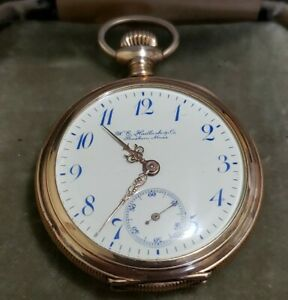W.E. Hadlock by LONGINES Ladies Gold Filled Pocket Watch running strong