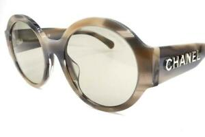 Chanel 5410-A Sunglasses Grey Havana 1663/3 Authentic 54mm