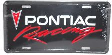 PONTIAC RACING ALUM LICENSE PLATE MADE  USA GM CATALINA GTO FIREBIRD BONNEVILLE