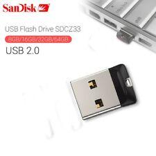 Clé USB 64 Go SanDisk CZ33 Cruzer Fit USB 2.0 Memory Stick Lecteur Flash Disk