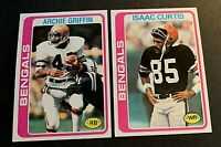 1978 Topps  #55 Archie Griffen and #185 Isaac Curtis - Bangals