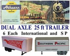 AugLot725 Ho International & S P 25 ft Dual Axle Trailers Athearn -No Ca Sales
