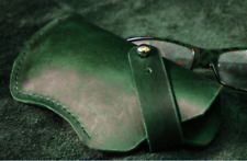 Eyeglasses Case sunglasses bag glasses Pouch spectacle cow Leather green z735-2