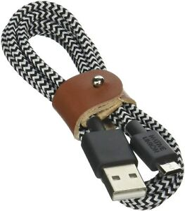 NATIVE UNION Belt Cable Micro-USB to USB A 1.2m Braided Cable || Zebra