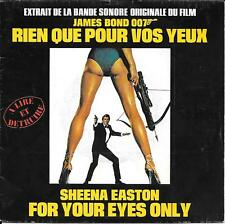 """45 TOURS / 7"""" BOF/OST--RIEN QUE POUR VOS YEUX--SHEENA EASTON--FOR YOUR EYES ONLY"""
