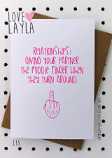 Greetings Card / Relationships / Marriage / Love Layla / Funny / Humour / L13