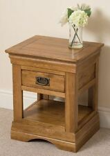 Country Square Side & End Tables with Drawers