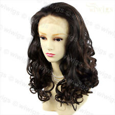 Wiwigs Beautiful Lace Front Curly Long Brown Strawberry Blonde Mix Ladies Wig