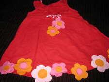 Girls Red Seymour Summer Dress Flowers 12 month
