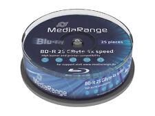[MR503] 1 x Spindel 25 Stück Mediarange Blu-Ray BD-R 25GB BluRay Rohlinge 4x