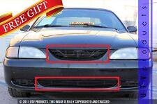 GTG 1994 -1998 Ford Mustang V6 / GT 2PC Gloss Black Billet Grille Insert Kit