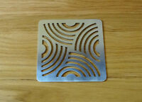 """Swirl Drain Guard 8""""/20cm Square Rustproof Stainless Steel Cover Plate Grate"""