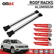Roof Rack Cross Bars Luggage Carrier Silver Set For Volkswagen Tiguan 2018-2020