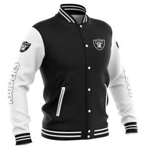 OAKLAND RAIDERS LAS VEGAS RAIDERS Men's Light Buttoned Jacket Jackets Football