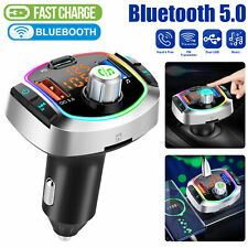 Bluetooth Car Wireless FM Transmitter MP3 Player Adapter Dual USB Screen Charger