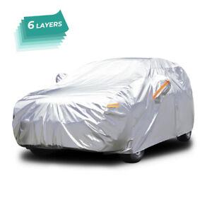 6 Layers Full Car SUV Cover Waterproof Rain Snow Dust Rain Resistant 167''-190''